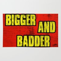 borderlands Area & Throw Rugs featuring BIGGER AND BADDER by Resistance