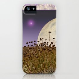 MOONRISE ON A DISTANT WORLD iPhone Case