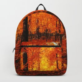 Fall Trees (orange) Backpack