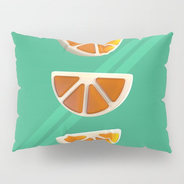 Orange Chew Candy Pillow Sham