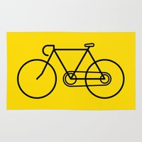 bicycle Area & Throw Rugs featuring Bicycle by Luke Turner