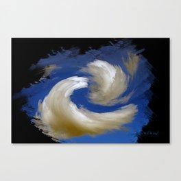"""Restless Love Clouds"" Canvas Print"