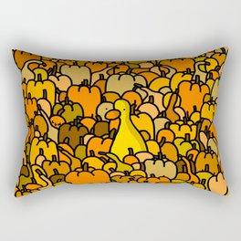 Duck in a Pumpkin Patch Rectangular Pillow