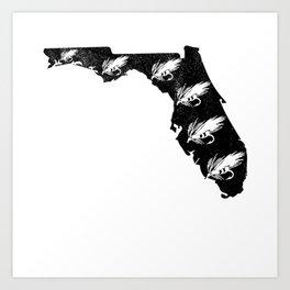 Florida Fly Fishing Hook State River Men Art Print
