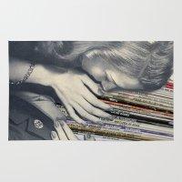 vinyl Area & Throw Rugs featuring mrs. Vinyl by Blaz Rojs
