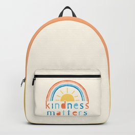 Kindness Matters. Typography Design with Rainbow Backpack