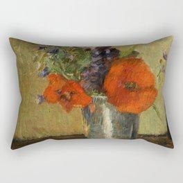 """Paul Gauguin """"Fleurs d'été dans un gobelet (Summer flowers in a pot)"""" Rectangular Pillow"""