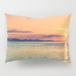 Pastel Sunset Calm Blue Water Pillow Sham