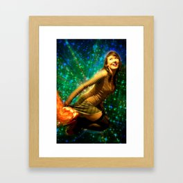 Galaxy Toot Girl | Sexy Pin Up Humor Framed Art Print