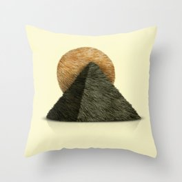Hair in desert Throw Pillow