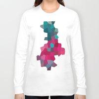 crystals Long Sleeve T-shirts featuring Crystals by Samantha Ranlet