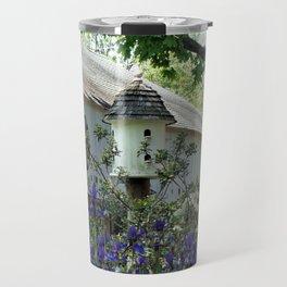 Birdhouse and Barn in Spring Travel Mug