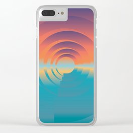 water and horizon Clear iPhone Case