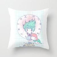 ouija Throw Pillows featuring OUIJA by marmushka