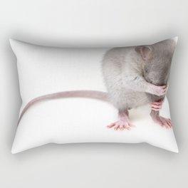 Shy rat Rectangular Pillow
