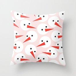 Snowman pattern Throw Pillow