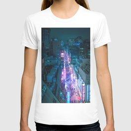 Hot Pink Neon Glow Street Tokyo T-shirt