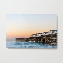 Crystal Pier Dawn Photograph by Priya Ghose Metal Print