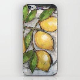 Lemons on a Wedgewood Plate iPhone Skin