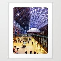 St Pancras International Train Station, London, UK Art Print