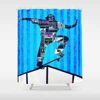 ryan gosling Shower Curtains featuring Ryan Sheckler  by Jimmy Recard