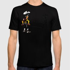OUUUPS! SMALL Black Mens Fitted Tee