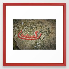 Norwegian Petroglyph Framed Art Print