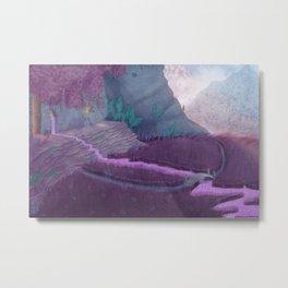 Extraterrestrial Mountaintop Metal Print