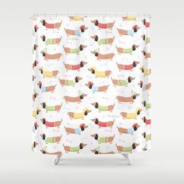 Cute Bassotti Shower Curtain