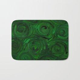 Emerald Green Roses Bath Mat