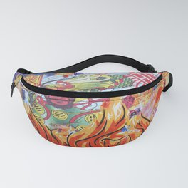 Burnin' Paper Full Canvas Fanny Pack