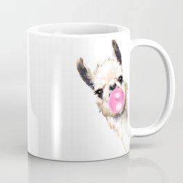 Bubble Gum Sneaky Llama Coffee Mug