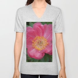 Coral Peony 2 by Teresa Thompson Unisex V-Neck