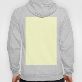 Solid Pale Yellow Cream Color Hoody