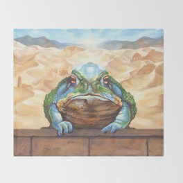 Dust Toad Throw Blanket