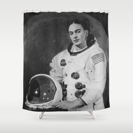 Frida in Space Shower Curtain