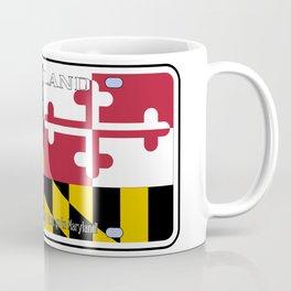 Maryland License Plate Flag Coffee Mug