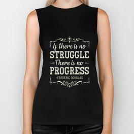 Frederick Douglass Famous Quote Tshirt Black Pride Biker Tank