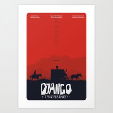 Django Unchained - minimal poster Art Print