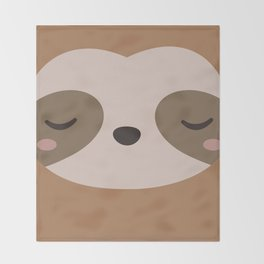 Kawaii Cute Sloth Throw Blanket