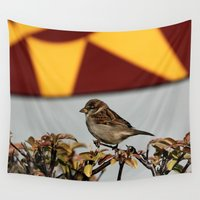sparrow Wall Tapestries featuring Sparrow by IowaShots