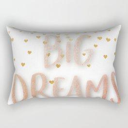 Golden Big dreams Rectangular Pillow