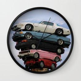 car pile Wall Clock