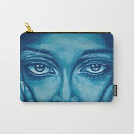 look at me-blue Carry-All Pouch