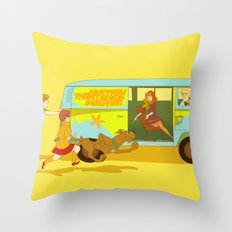 Little Mystery Machine Throw Pillow