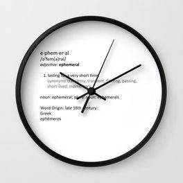 Ephemeral Wall Clock