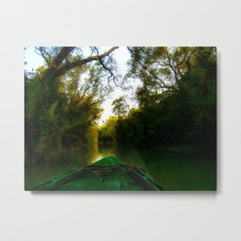 Navigating the river  Metal Print
