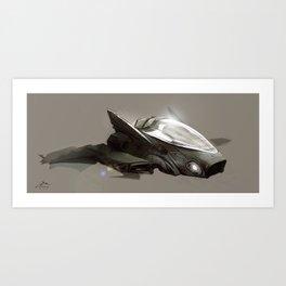 Shuttle concept.  Art Print
