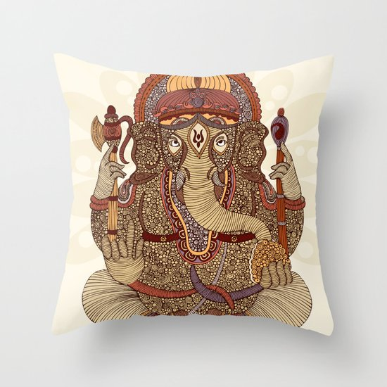 Ganesha: Lord of Success Throw Pillow