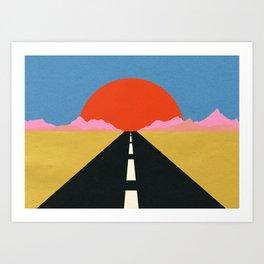 Road To Sun Art Print